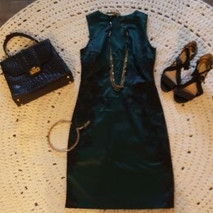 NWOT LIMITED BLACK AND GREEN SATIN DRESS